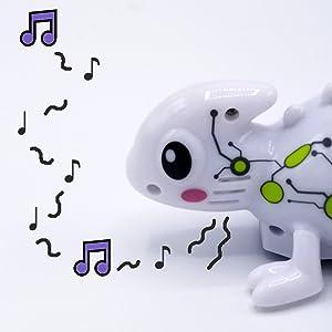 color tracer chameleon,inductive toy,LED color light changing,singing talking chameleon