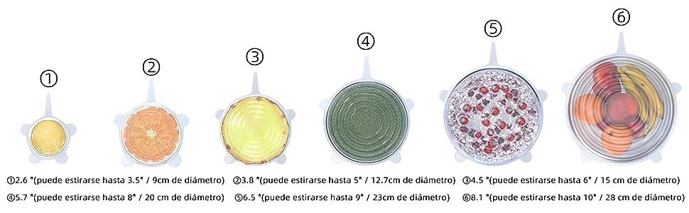 tapas silicona Tapas elásticas de silicona tapa silicon ajustables tapa silicona tapa de silicona