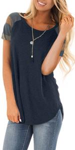 short sleeve tunic tops