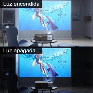 Proyector Full HD, BOSNAS 7000 Lúmenes Proyectores LED 1920x1080P Nativo Soporta 4K y Sonido Dolby, Ajuste Digital 4D ±45°, Proyector Cine en Casa Pantalla 300