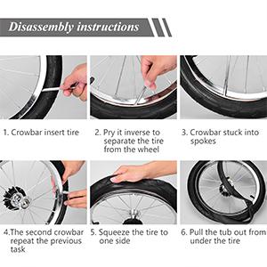 pneus pour b/éb/é 8 5 roue arri/ère 50-134 We-Win Chambre /à air pour poussette tricycle 8 1//2 x 2 pneus ext/érieurs