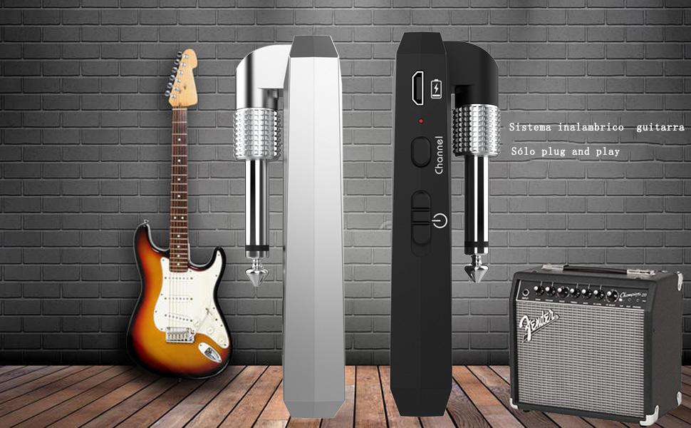 Getaria Inalámbrico Guitarra Transmisor Receptor 5.8GHz Sistema de ...