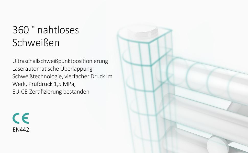 beheizte Wand Handtuchw/ärmer Design 1200x400mm Anthrazit Badetuch Heizk/örper EMKE Handtuchtrockner Heizk/örper