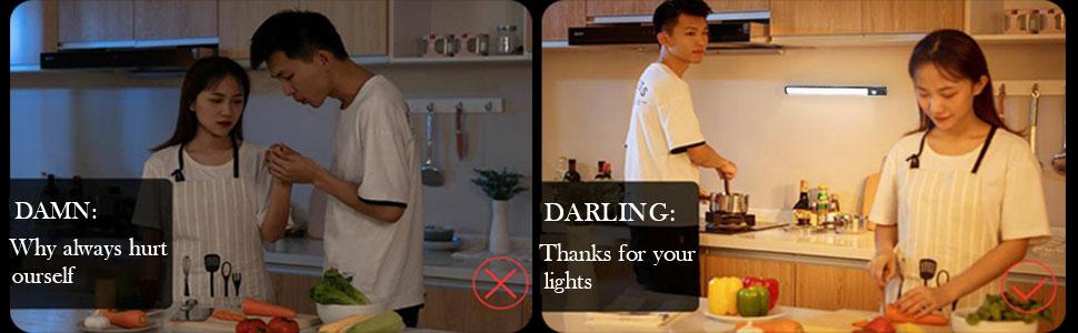 led closet light use and non use compared