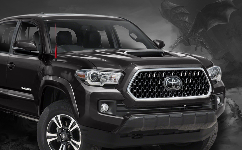 FM//AM Reception Enhanced DROGO 13 Tougher Replacement Antenna for Dodge RAM Trucks 1994-2018 Stealth Black Tough Material Creative Design