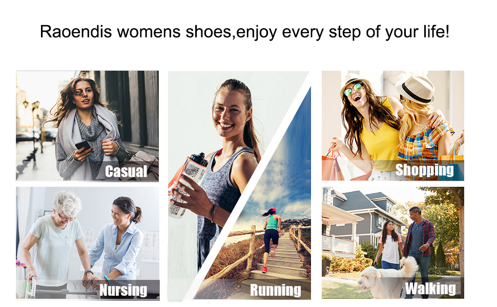Raoendis women shoes,suitable for casual,shopping,walking,running and nursing