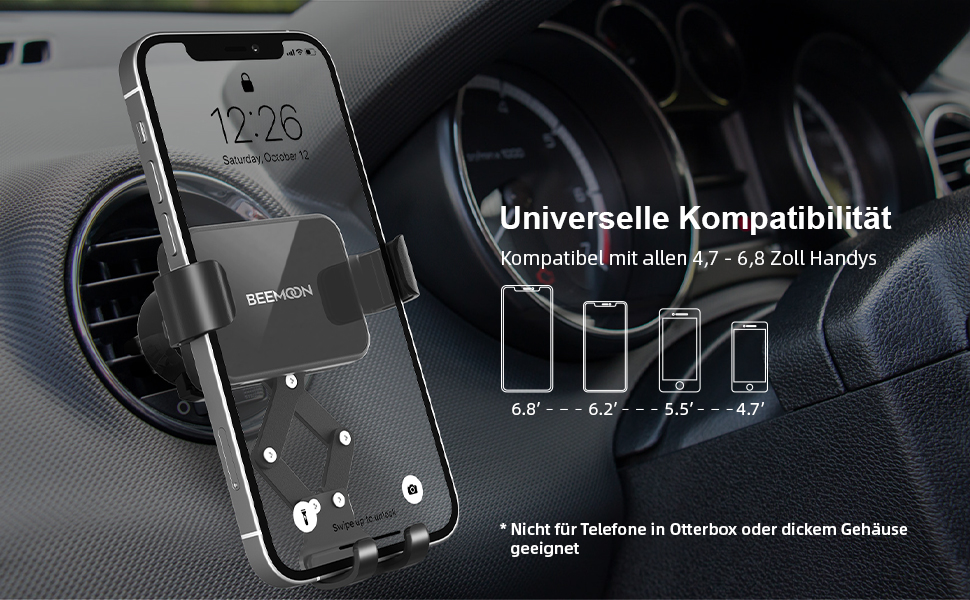 Beemoon Handy Autohalterung Auto Vent Halterung Elektronik