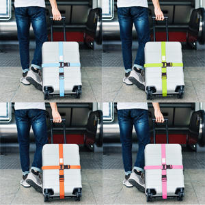 Dimensions. Personalised Luggage Straps for Suitcases. Bag Suitcase Straps with Luggage Tag Labels