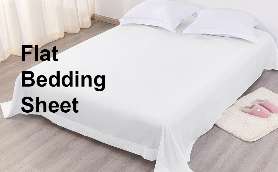 Ultra Soft Microfiber Bed Flat Sheet Stain Resistant Classic and Durable Wrinkle FLXXIE Twin Extra-Long Size Flat Bedding Sheet Black Fade