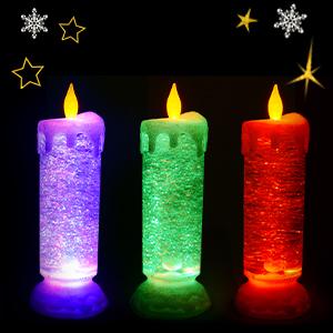 colour changing LED illuminate light lighten glow water green purple red blue orange flame realistic