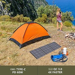 100w solar panel foldable