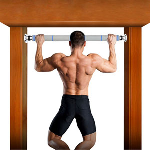 Home-Neat - Barra de tracción para barra de musculación de acero inoxidable