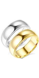 7mm Milgrain Comfort Fit Wedding Bands