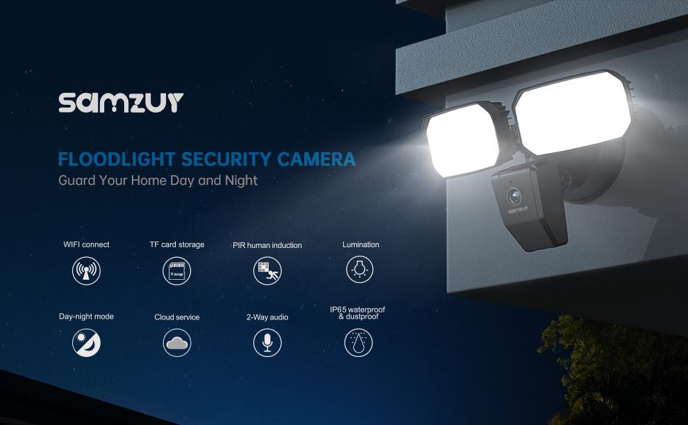 camera floodlight outdoor