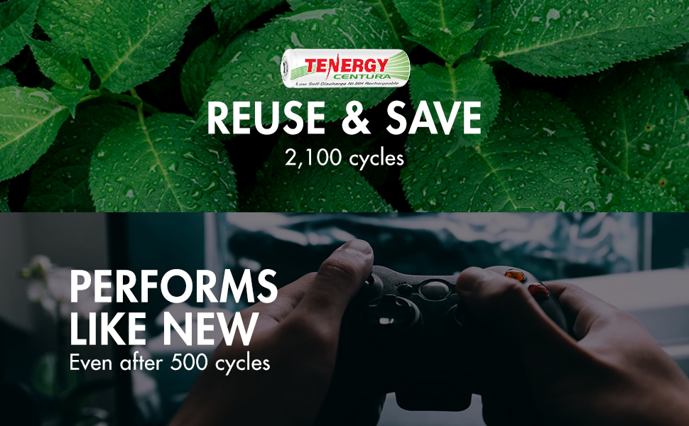 save money by recharging and reusing up to to 2100 times