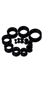 Thick Silicone Hollow Flexible Ear Tunnels Kit Stretching Set