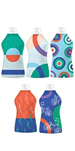 Squooshi Reusable Food Pouch Squeeze Food Packs Simple Modern Design