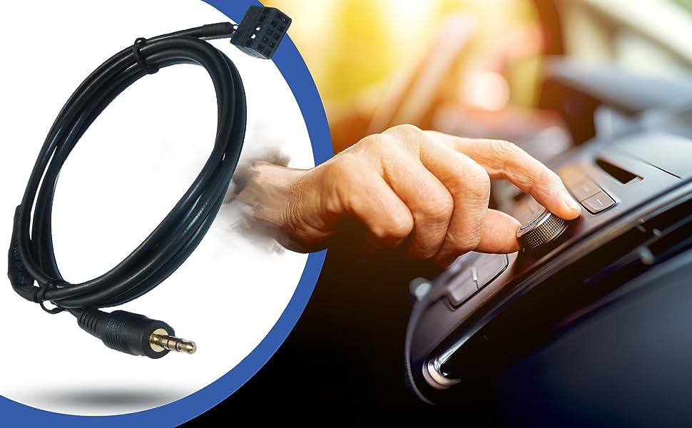 AUX Line In Adapter Stecker für BMW Business Radio MP3 3,5mm Klinke  #5380