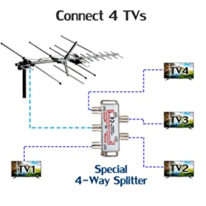 Support Up to 4 TVs