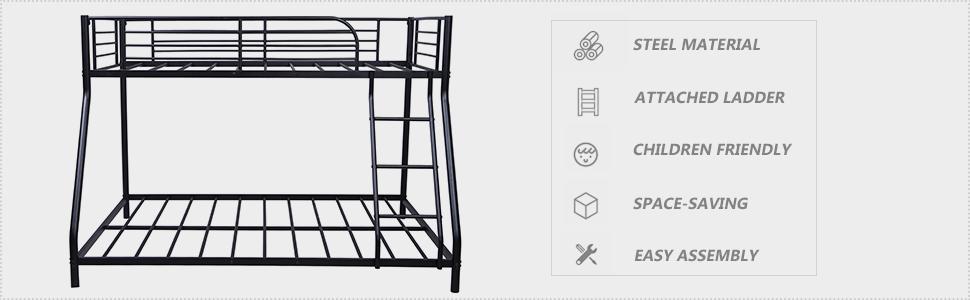 frame twin full size bed platform metal bed