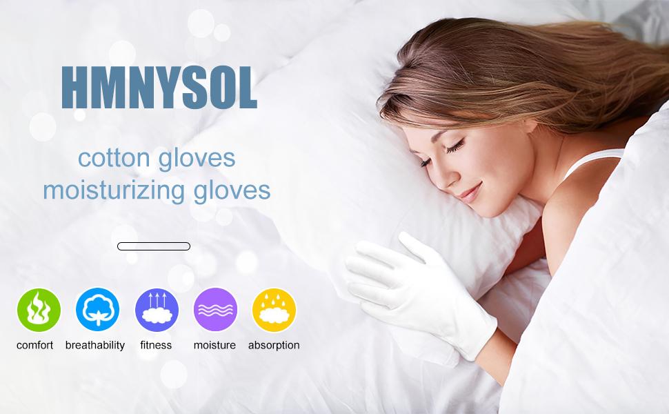 Moisturizing cotton gloves