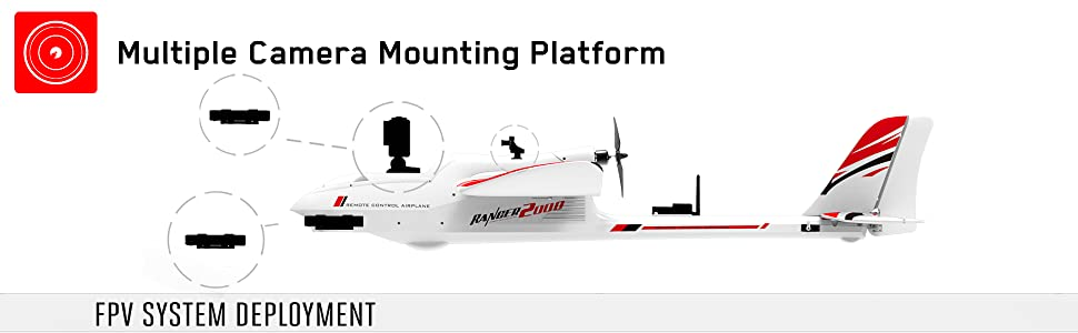 fpv hobby model pusher glider airplane sailplane aircraft