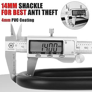 14mm shackle foe best anti theft