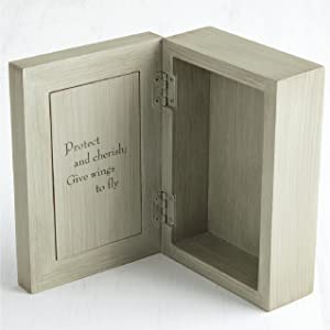 Open box with message of love and caring written inside on the lid.
