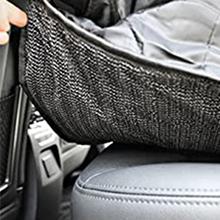 Looxmeer Hunde Autositz Für Kleine Mittlere Hunde Vordersitz Rückbank Hundesitz Auto Mit Sicherheitsgurt Faltbare Hundedecke Autositzbezug Beifahrsitz Wasserdicht Reißfest Für Autoschutz Schwarz Haustier