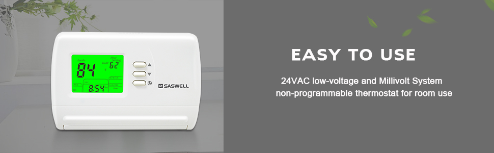 thermostats 24VAC low-voltage and millivolt system non-programmable thermostat for room use