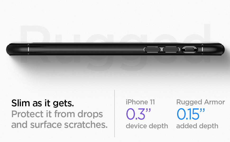 iphone 11 rugged armor - black