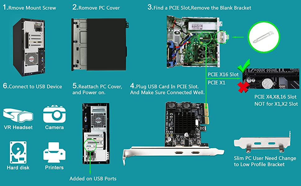 pcie usb 3.1 card usbexpansion card usb 3.1 pcie usb 3.1 C card usb type a card usb 3.1 type c card