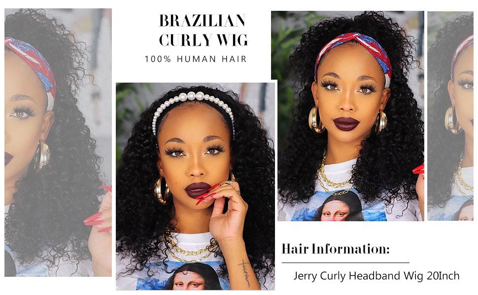 headband curly wig show