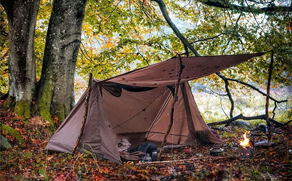 ultralight bushcraft shelter