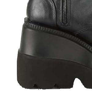 wedge high heel boots