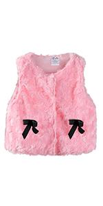 kids faux fur vest