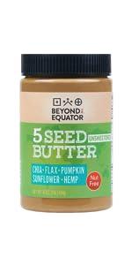 seed butter raw organic no sugar seven nut sacha inchi mixed watermelon gourmet nut almond flax hemp