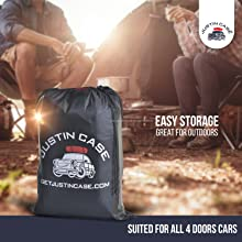 MILITARY QUALITY WATERPROOF: This premium quality car top bag is made of military grade materials