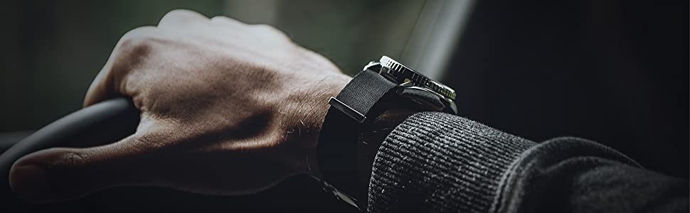 oncewill 20mm nato strap black seatbelt nylon seat belt soft seiko