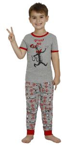 dr seuss cat in the hat boys pajama 2 piece set sleepwear loungewear pjs the grinch