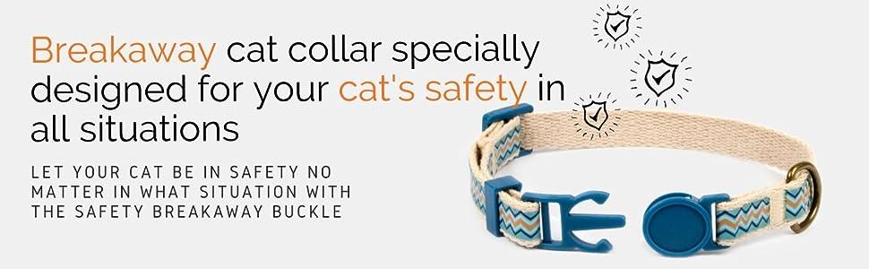 breakaway kitty collar friendship bracelet safety buckle felines kitten cat lover soft cotton kitty