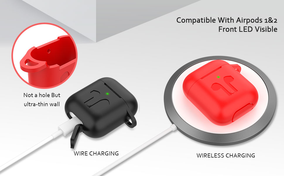 airpods case 1 2 accessories strap apple cover silicone AirPods EarHooks Headphone Case wireless box