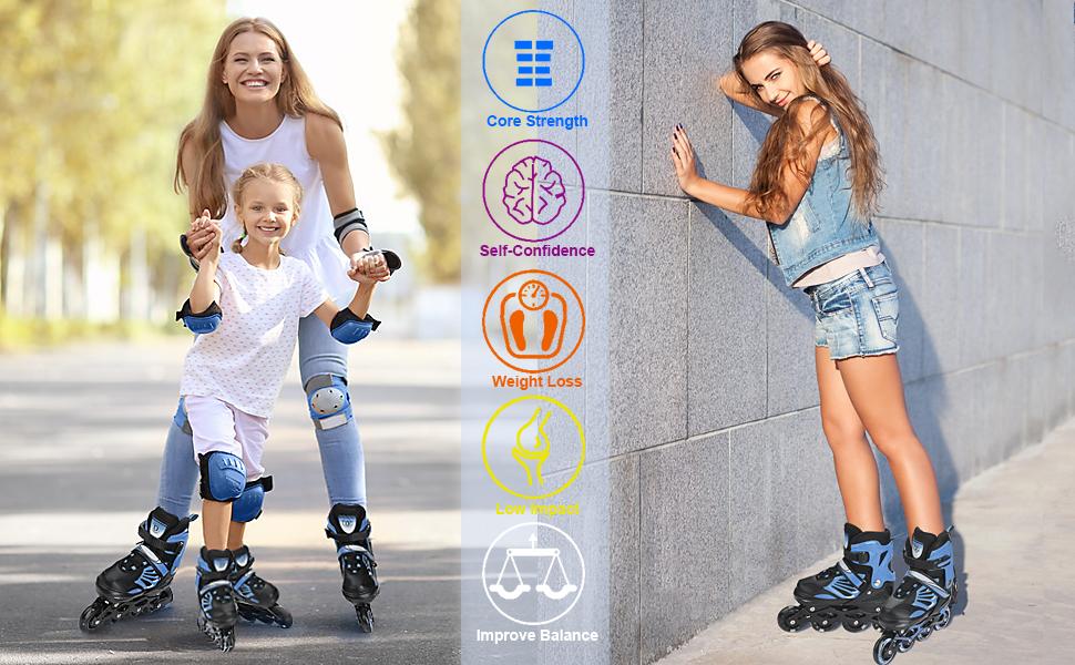 roller blades/ skates girls