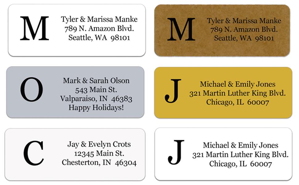 holiday christmas personalized return address labels custom christmas