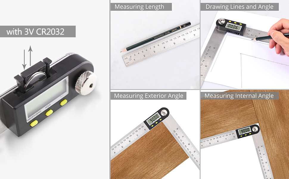 eSynic Digital Angle Finder Protractor