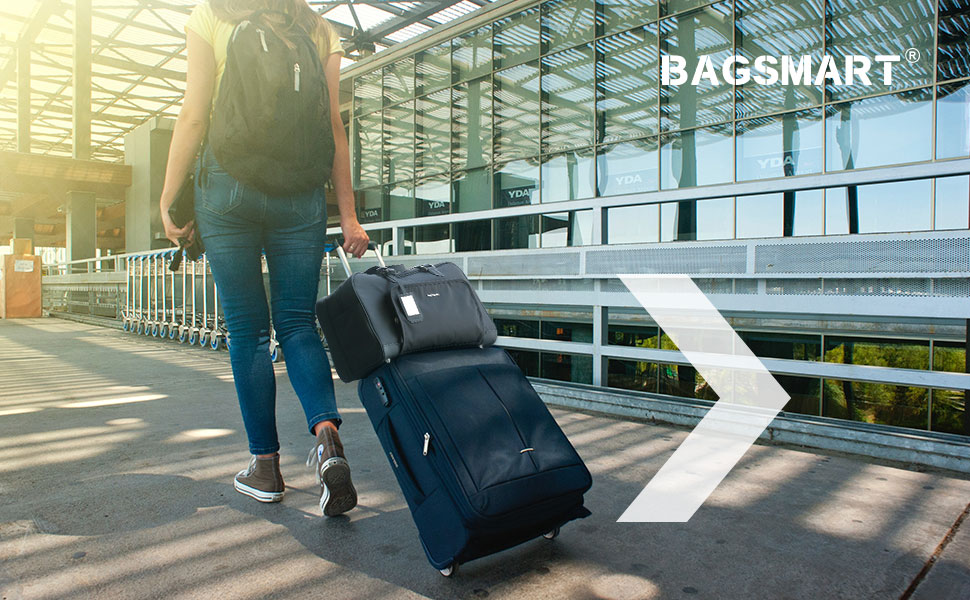 Sac /étanche Sac en Bandouli/ère pour Camping Gris BAGSMART Sac de Voyage avec Un Sac /à Chaussures 15.6 Ordinateurs Portables Grand Sac de Sport Duffle Bag Gym 22 litres