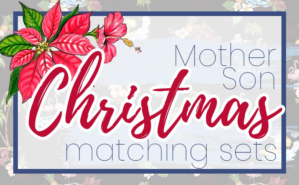 Hawaii Hangover Mother Son Matching Sets Christmas Hawaiian Santa Style