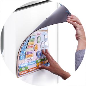 aeioubaby magnetisk klockkalender leksaker spel lärande utbildning kalendern kylskåpet