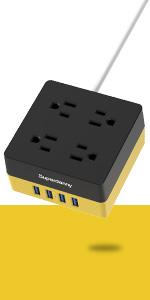 yellow multi-plug