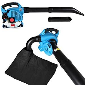 Monzana 4en1 Soplador aspirador y trituradora de gasolina con bolsa de 45L herramienta para exterior jardín 2 tubos: Amazon.es: Hogar